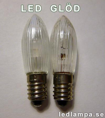 E10 LED glödlampa julljus