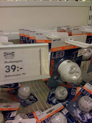 LED-ljusplugg med skymningsrelä, nattljus/ledljus